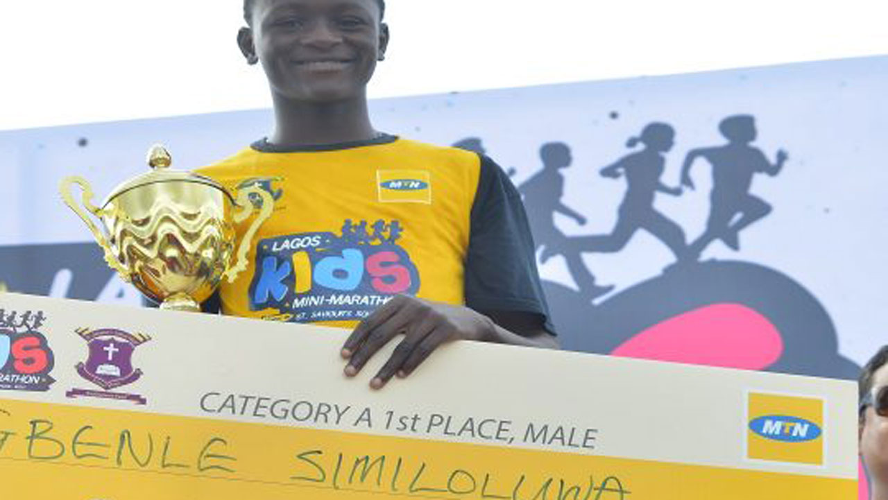 Similoluwa, Dara win MTN Lagos Kids mini marathon