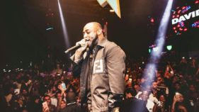 Davido at the Africa music fest.