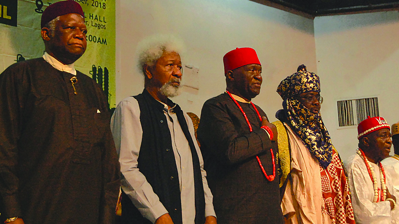 Image result for Restructuring unstoppable, say Soyinka, Nwodo, Adebanjo