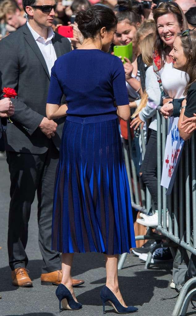 Meghan Markle see through skirt