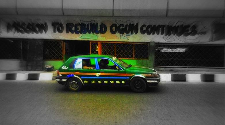 The Many Coat of Colours Of The Nigerian Local Taxis | The