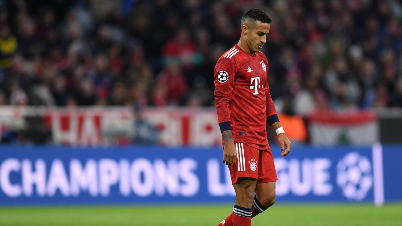 Embattled Bayern hunt Thiago replacement
