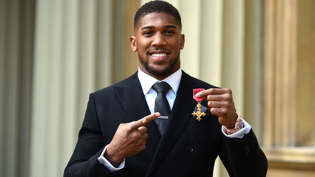 Anthony Joshua awarded the OBE title