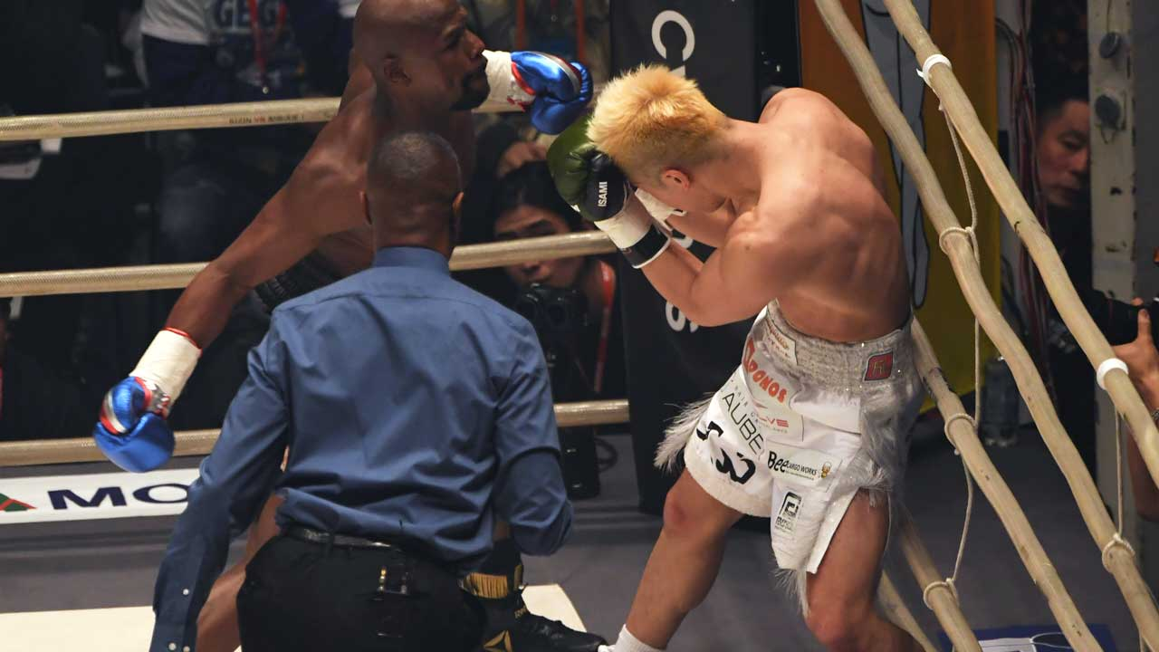 $9m for 139 seconds: Floyd Mayweather cashes in against Tenshin Nasukawa