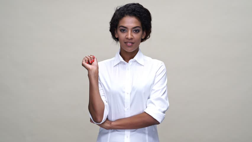 A woman in white shirt