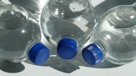 Bottles containing water