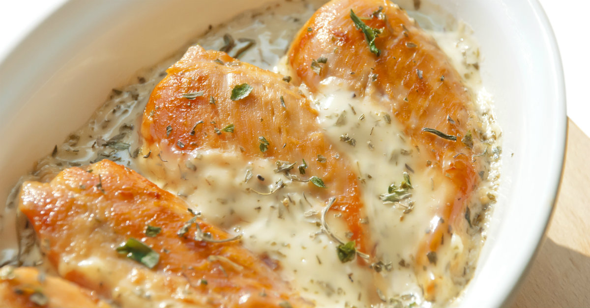 Cheesy Chicken Breasts With Cheese Sauce
