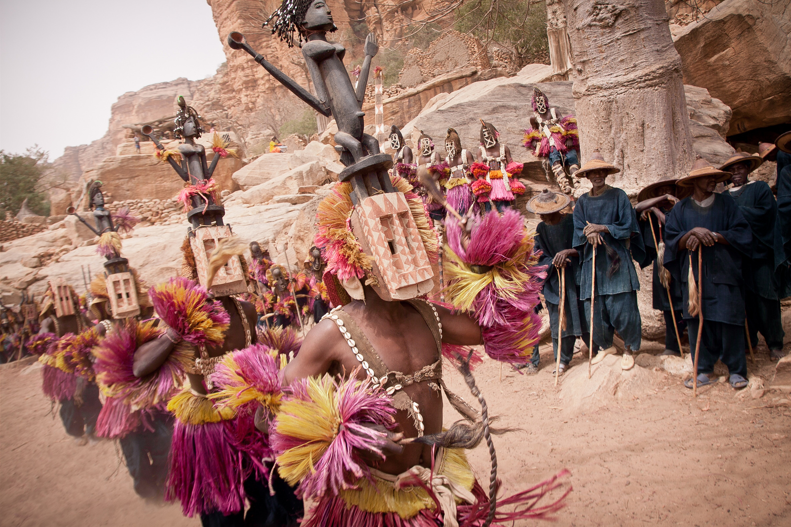 Dogon tribe mask dance