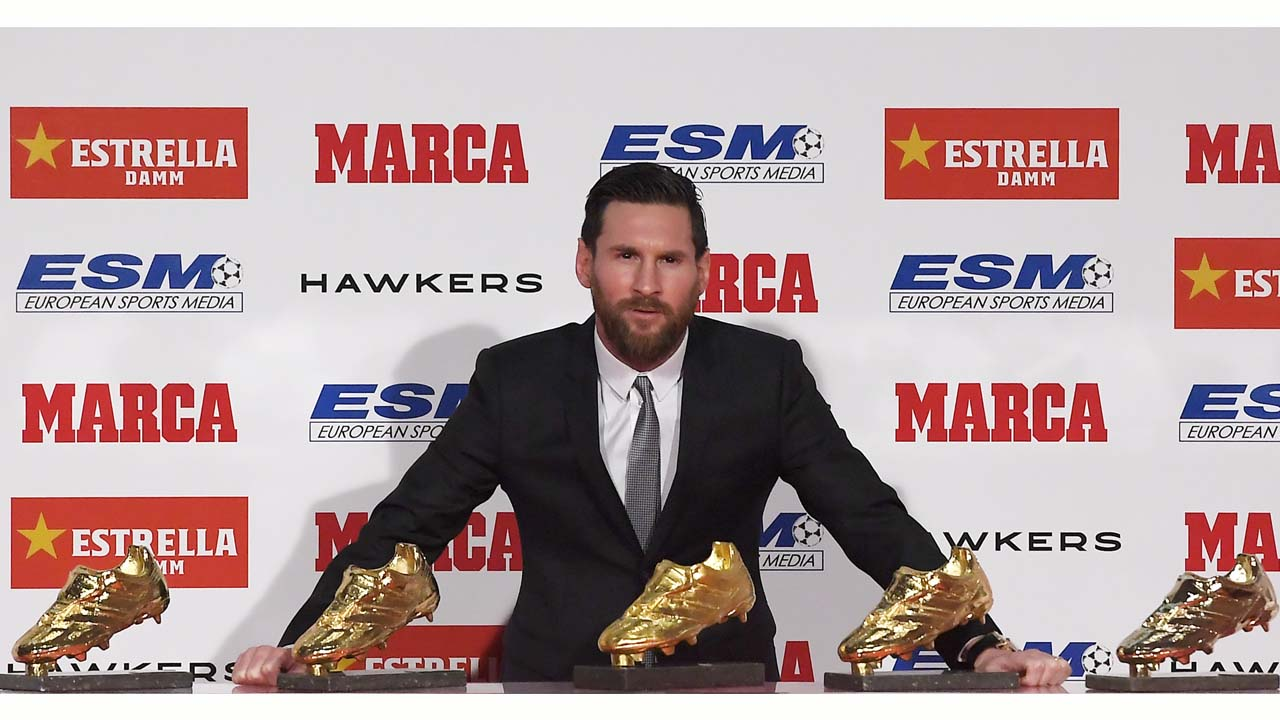 Messi claims record 5th Golden Shoe