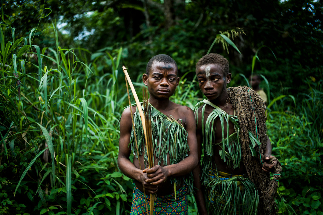Pygmy Tribe in the Ituri Rainforest