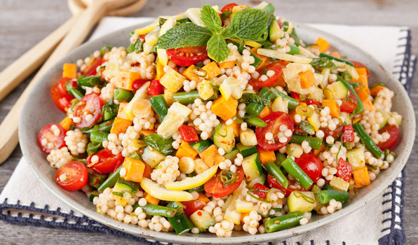 Vegetable couscous sald