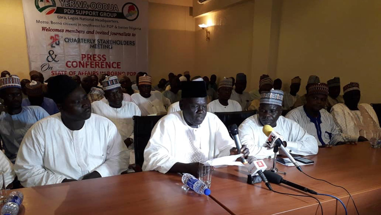 PDP group bemoans absence of guber, central senatorial candidates for Borno