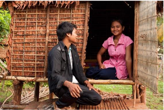 Man having sex in a hut