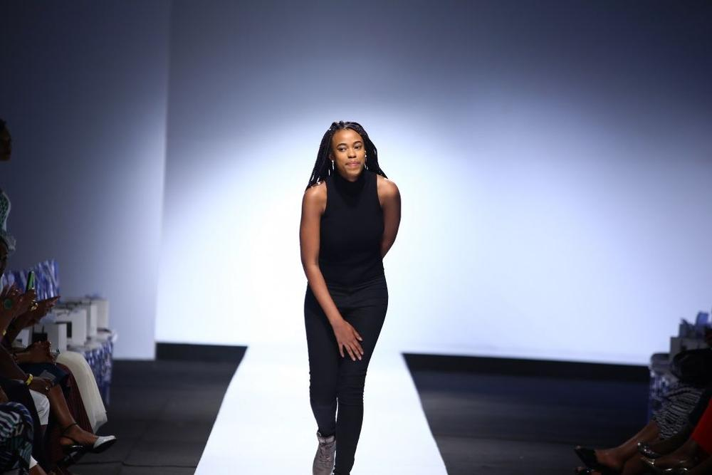 Destiny taking a bow at LFW