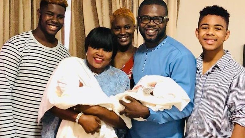 Funke Akindele Bello and family