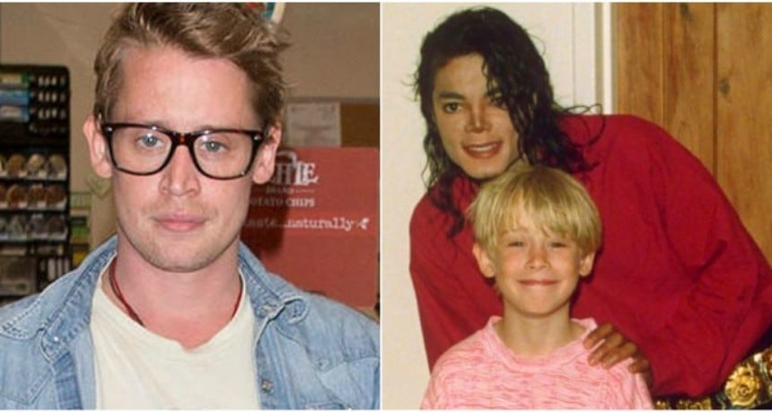 Macauley culkin and Michael Jackson