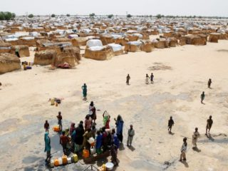 Maiduguri IDP camp ariel view