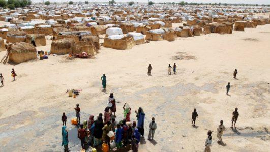 Maiduguri IDP camp ariel view
