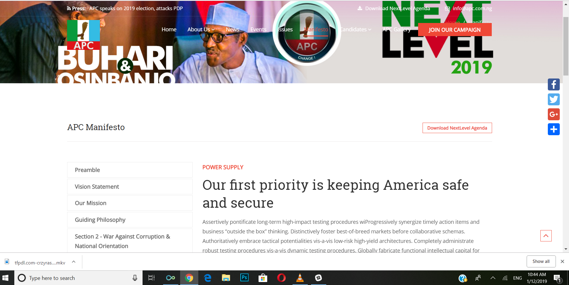 APC website publishes plagiarised manifesto | The Guardian Nigeria Newspaper - Nigeria and World News