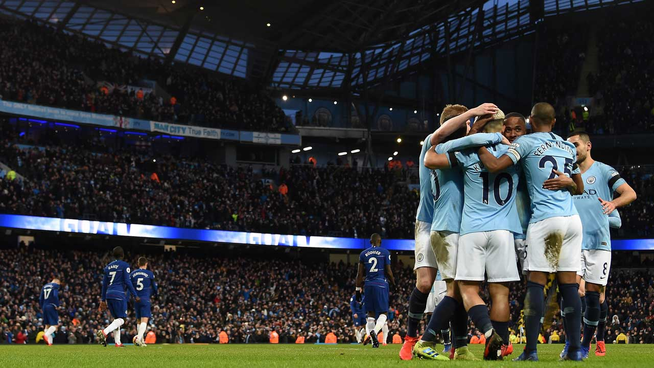 Man City hit humiliated Chelsea for six to go top once more