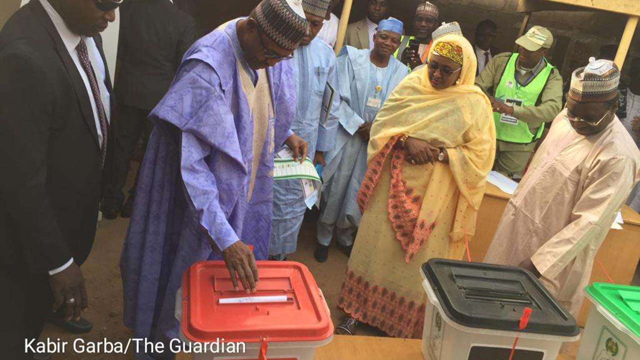 Buhari, Aisha vote in Daura | The Guardian Nigeria News - Nigeria and World News