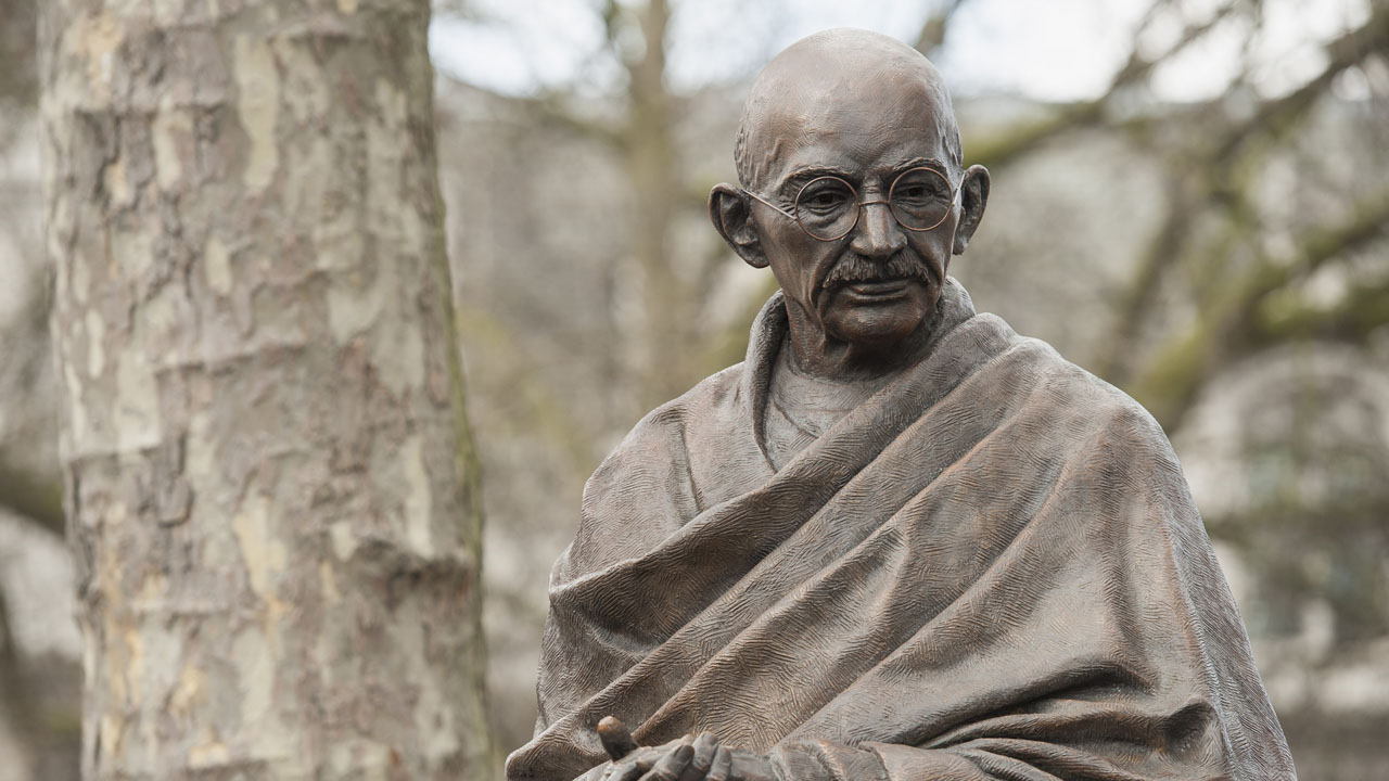 Indian Woman Arrested For Shooting Gandhi Effigy  The -9011
