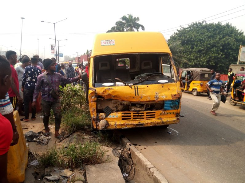 Driver knocks down motorcyclist in Lagos