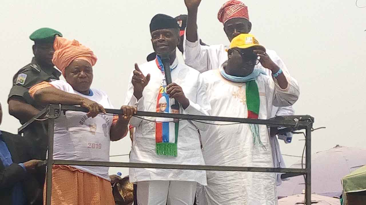 Osinbajo campaigns in Ogun's biggest market | The Guardian Nigeria Newspaper - Nigeria and World News