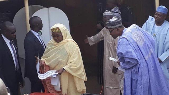 Nigerians react to Buhari 'allegedly' spying Aisha's ballot paper | The Guardian Nigeria News - Nigeria and World News