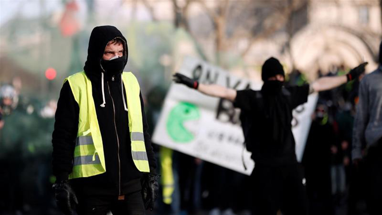 France's yellow vests mark 3 months amid racist tensions