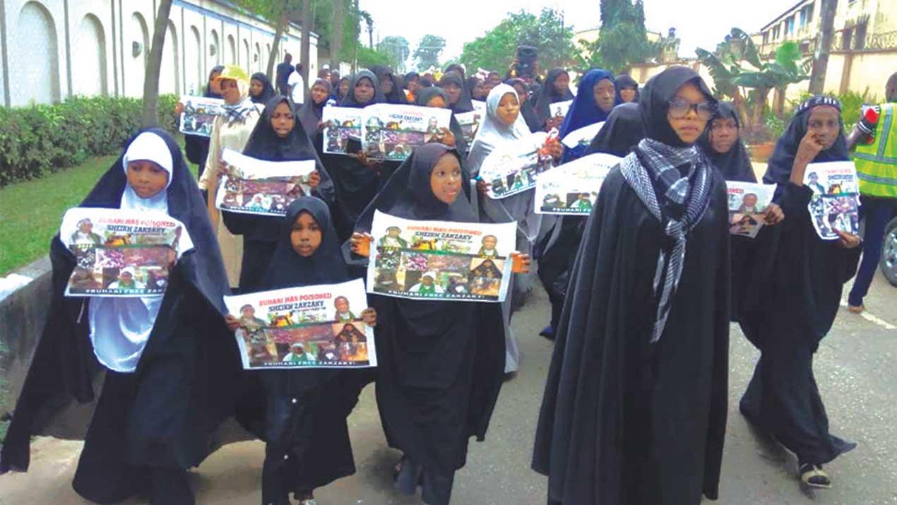 El-Zakzaky's supporters take protest to Lagos
