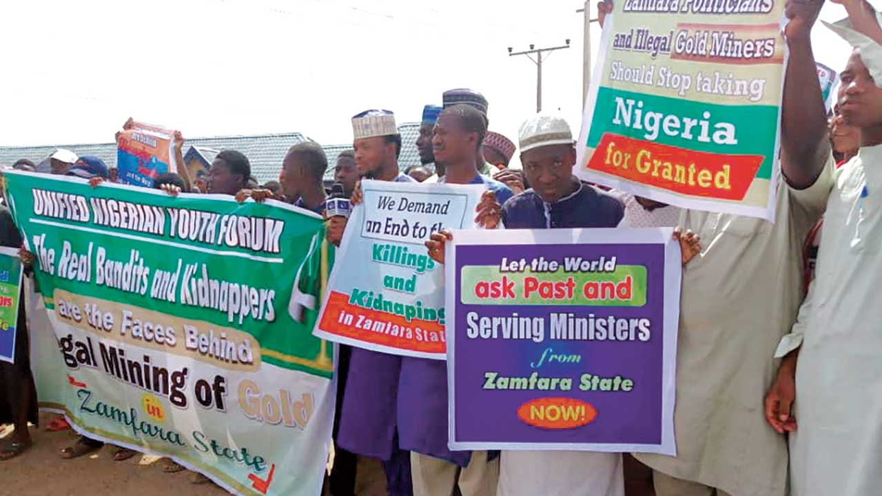 Image result for Arewa Youths Protests Rising killings In Zamfara