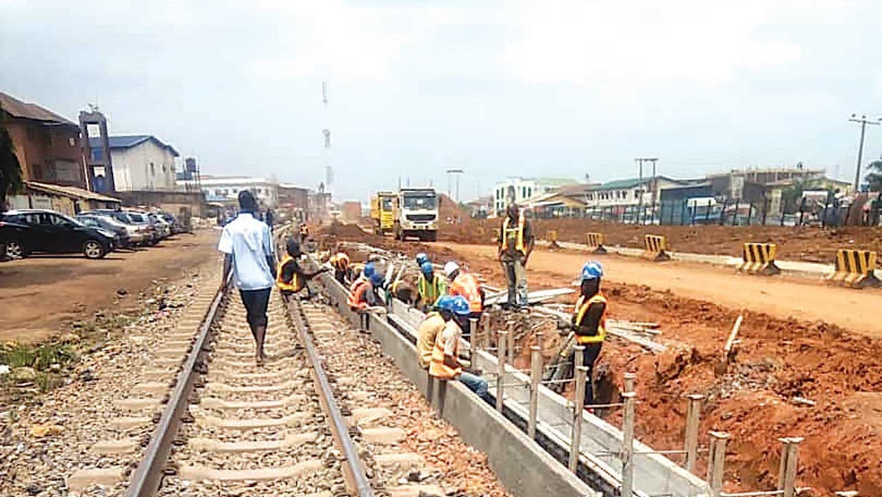 Towards completion of old rail, road projects in another