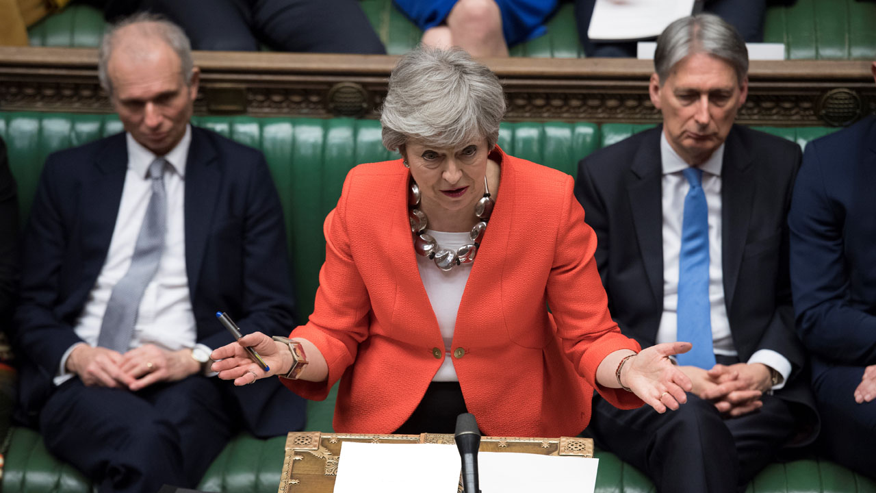 British MPs narrowly reject no-deal Brexit in non-binding vote