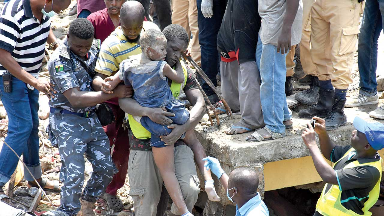 Death toll now 20 in Lagos building collapse