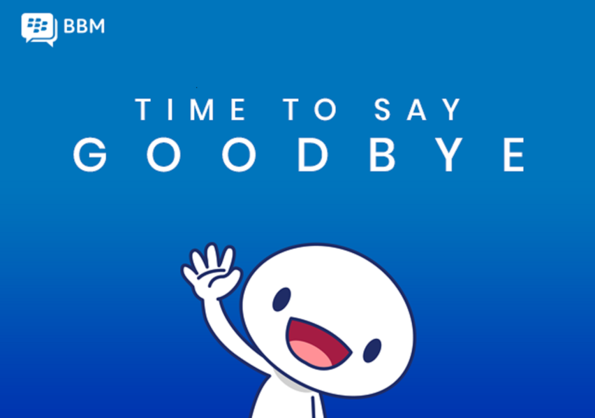 BBM for consumers will be shutting down on 31st May 2019