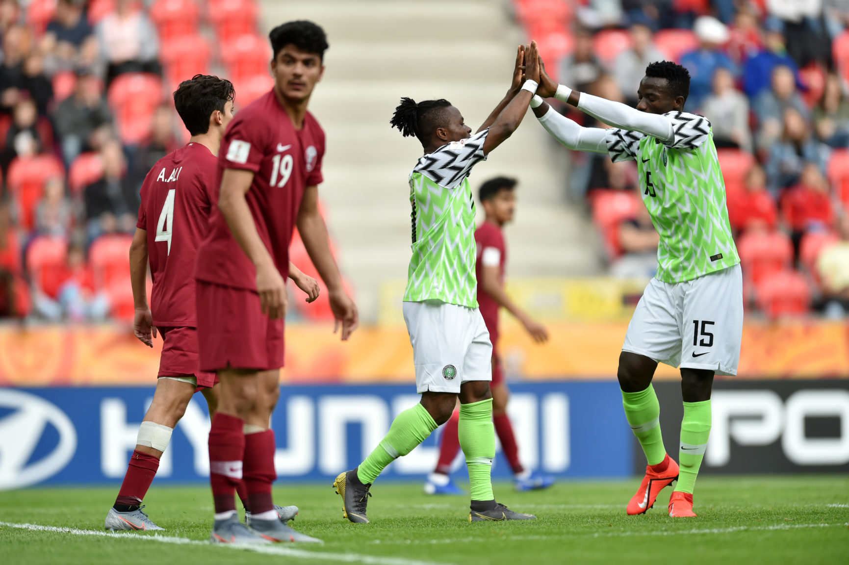 Poland 2019: Flying Eagles stroll past Qatar in opening Group D game