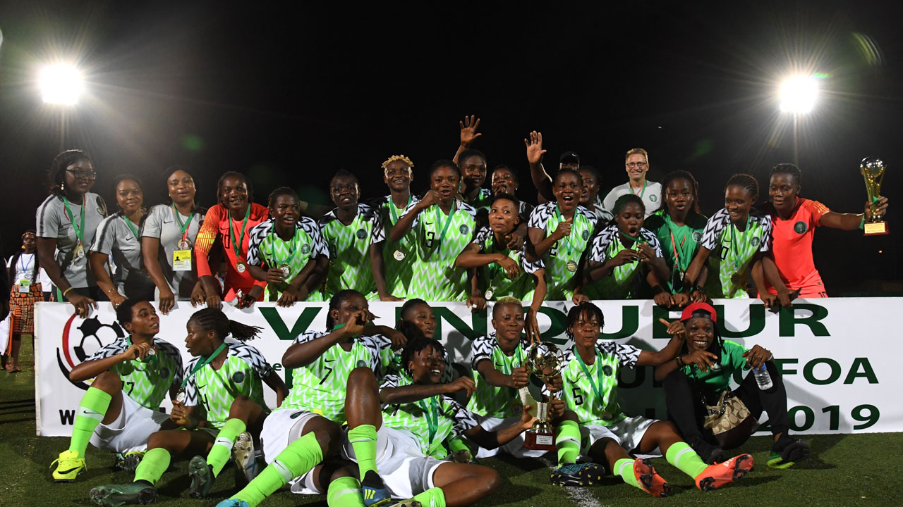 Image result for Super Falcons Win WAFU Cup