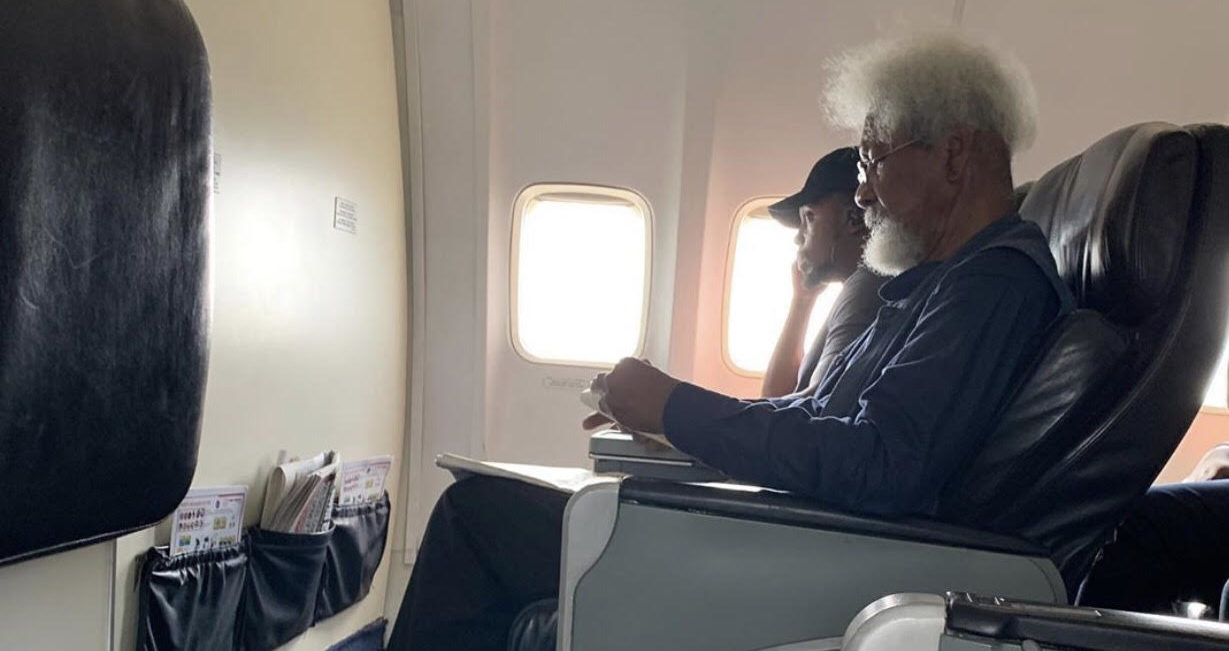 Image result for wole soyinka plane