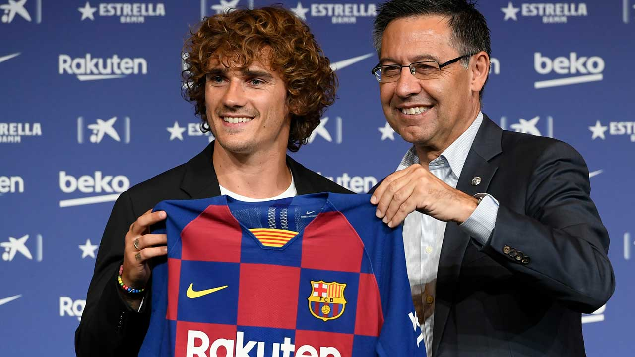 Barca fined £265 over tampering Griezmann