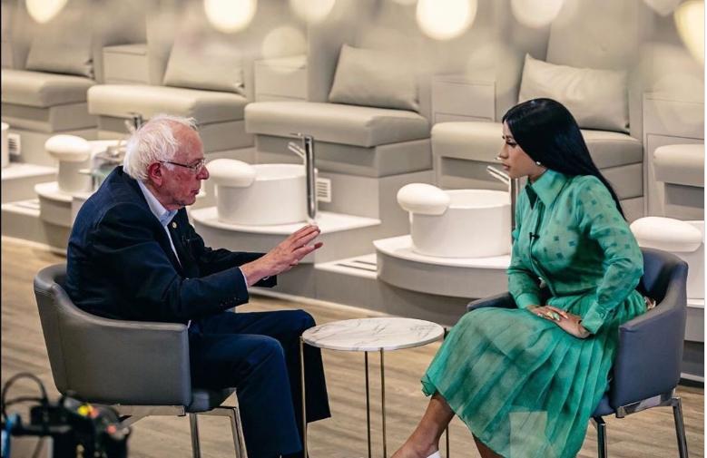 Bernie Sanders and Cardi B