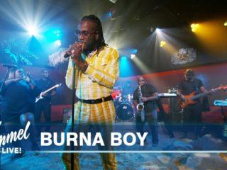 Burna Boy on Jimmy Kimmel Live!