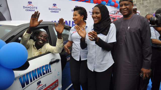 Labourer wins first saloon car in Dangote Cement Promo - Guardian