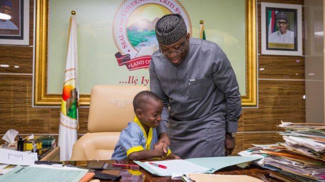 7-year-old Daniel Olutope emerges one-day Ekiti governor - Guardian Nigeria