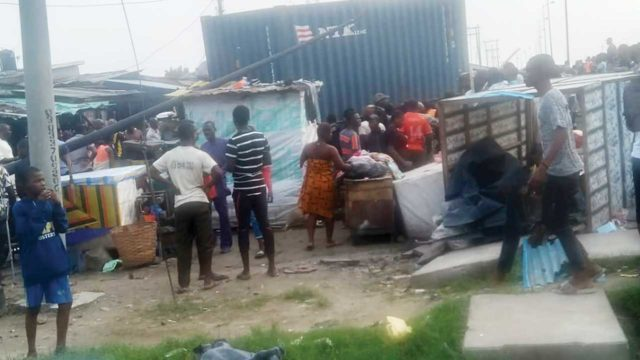 Four killed, many injured as container falls on passersby in Lagos - Guardian