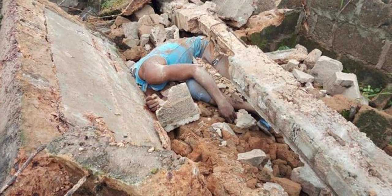 Another collapsed building kills man in Abia