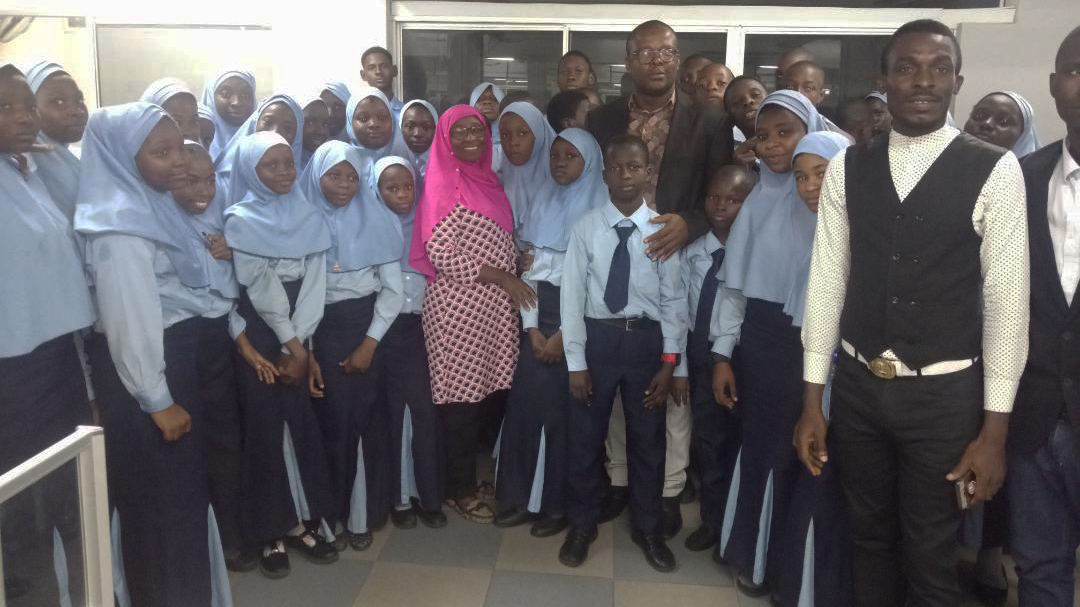 Al-Haleem International School Proprietress and Students. Photo: Guardian Nigeria