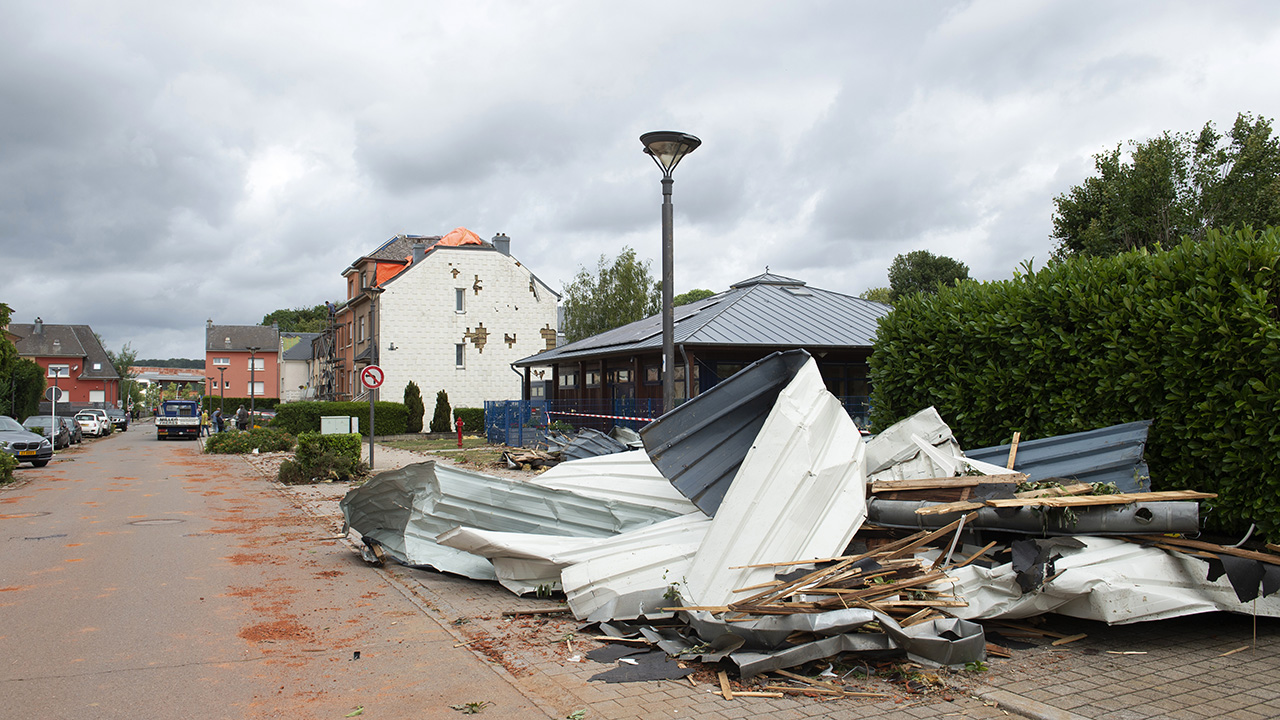 Luxembourg clears up after tornado