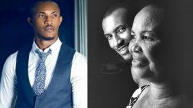 Gideon Okeke and his mother