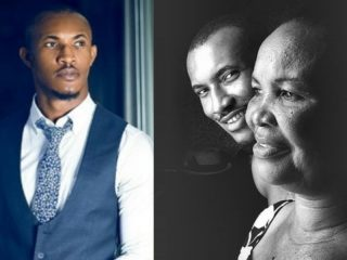 Gideon Okeke and his mother